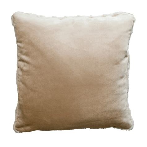 Minky Pillow by Minky Velvet Oyster Accent Pillow
