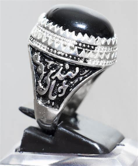 Herrenringe Mit Stein by Herren Aqiq Ring Khorasani Stein In Schwarz Oval Graviert