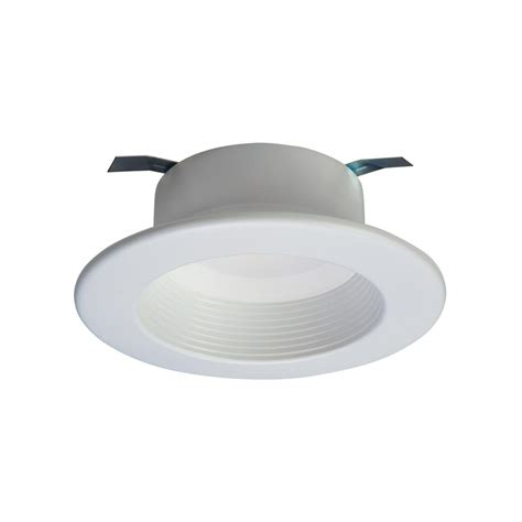 Led Recessed Ceiling Light Halo Rl 4 In White Integrated Led Recessed Ceiling Light Fixture Retrofit Baffle Trim With 90