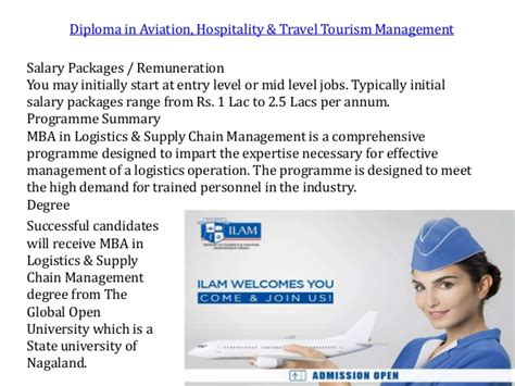 Mba In Aviation Management Salary In Pakistan by Institute Of Logistics Aviation Management Industry