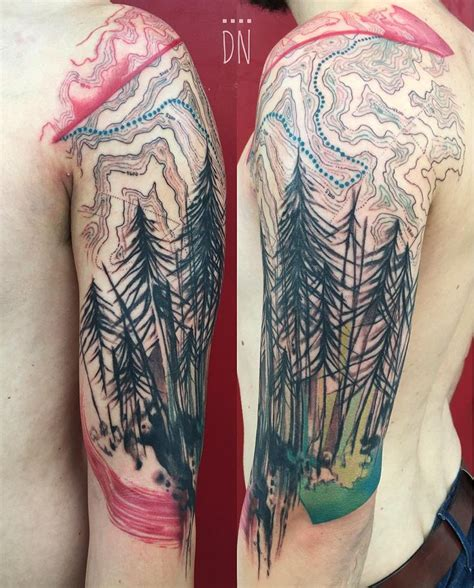 appalachian trail tattoo 25 best map of appalachian trail ideas on