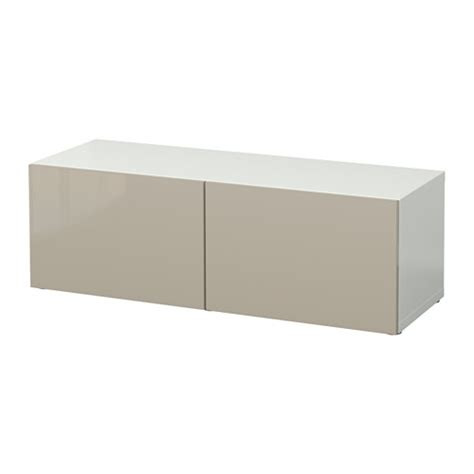 besta hochglanz beige best 197 shelf unit with doors white selsviken high gloss