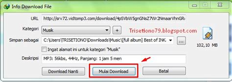 download mp3 dari youtube 1 jam trisetiono79 blogspot com cara convert video youtube ke