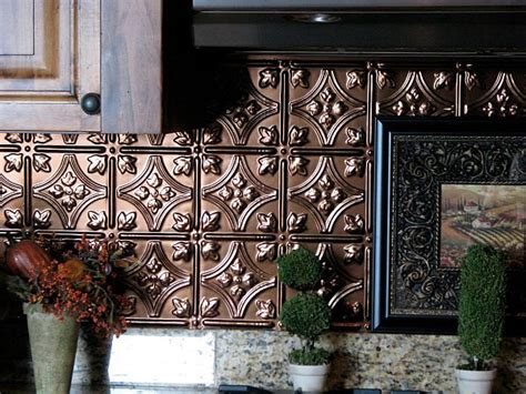 Tin Tiles For Backsplash In Kitchen | adding pressed tin into your home decor