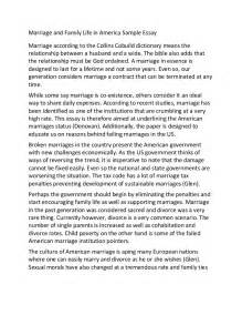 Marital Breakdown Essay by Marriage And Family In America Sle Essay
