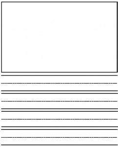 Kindergarten Writing Template Journal Paper Kids Kindergarten Writing Pre School Writing Journal Paper Template