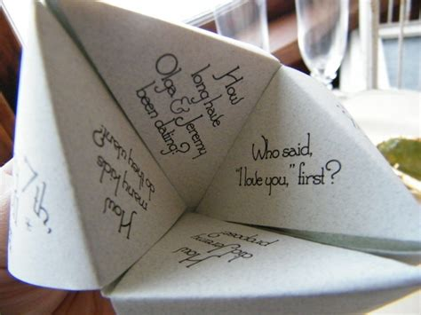 sle cootie catcher origami wedding favor catcher