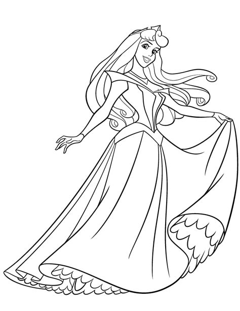 pretty princess aurora coloring princess rae princess aurora kids