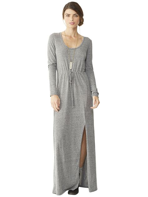 home design group spólka cywilna grey maxi dress alternative apparel eco jersey maxi dress