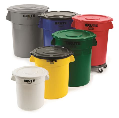 trash storage containers 55 gallon trash can brute garbage cans brute