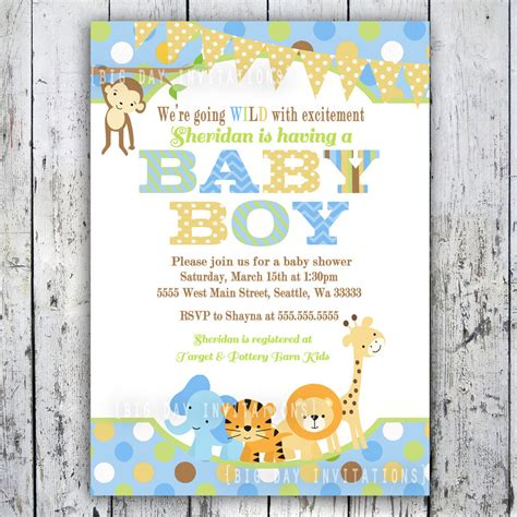 invites for baby shower ideas safari baby shower invitations jungle animal theme printable
