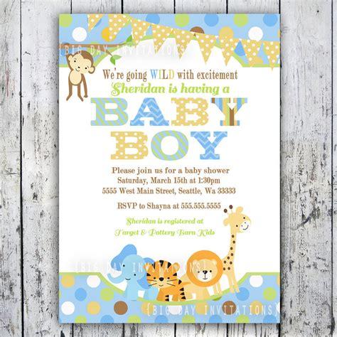printable animal baby shower invitations safari baby shower invitations jungle animal theme printable