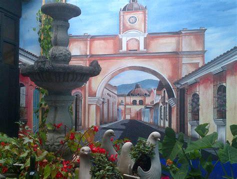 fotos antiguas famosas pintura de la calle del arco en antigua guatemala mi