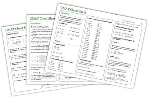 Mba Prerequisite Math by Math And Sheets On