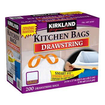 Kirkland Kitchen Bags by Garbage Bags Costco