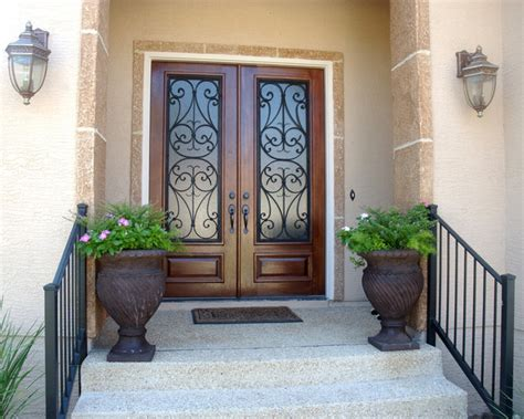 Entry Way Ideas by San Carlos Double Door Mediterranean Entry Austin