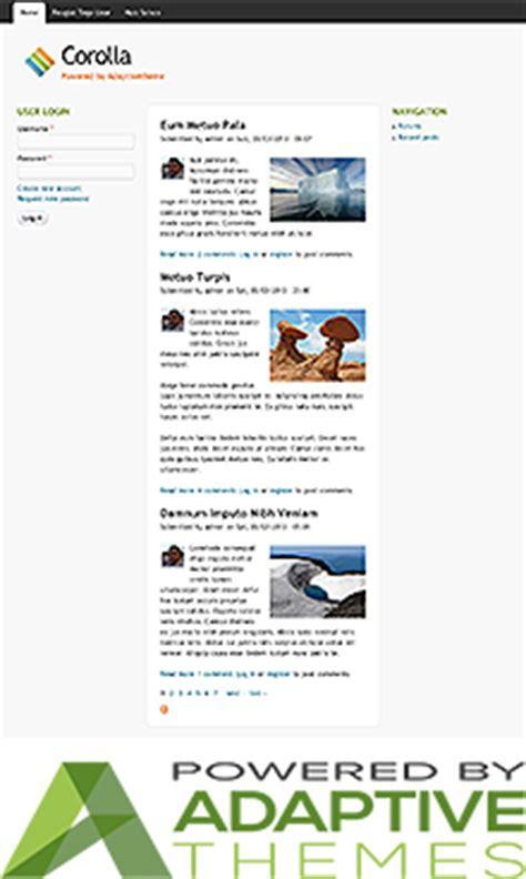 drupal themes adaptive theme project drupal org