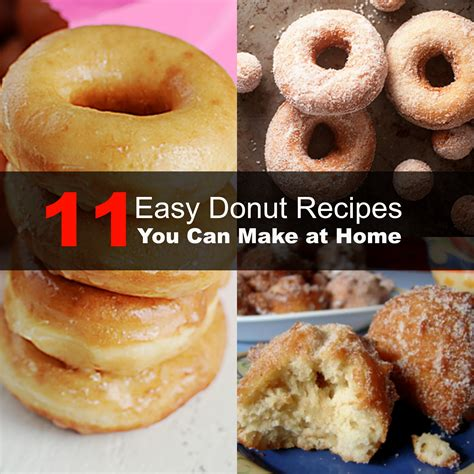 11 easy donut recipes you can make at home
