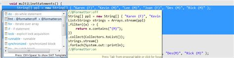eclipse java 8 formatting lambda with newlines and