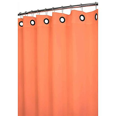 grommet shower curtains park b smith 174 dorset tangerine large grommet 72 inch x 72
