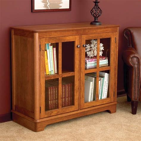 glass door bookcase woodworking plan from wood magazine