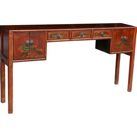 console table with drawers and doors chinese console