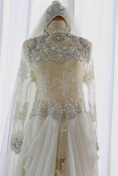 B00843bab1 Dress Baby Putih Brokat Bunga inade design dress pengantin aceh muslim putih white