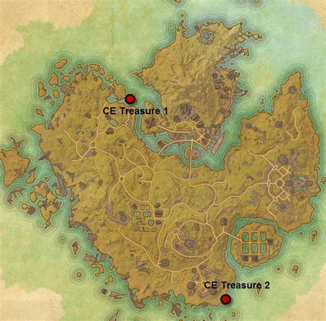 eso maps eso ce treasure maps location guide dulfy