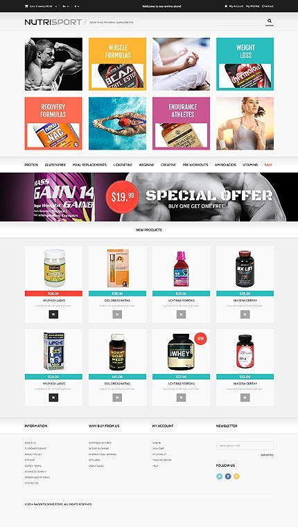 Template 48335 Nutrition Store Responsive Magento Theme Pinterest Template Ui Ux And Nutrition Website Templates