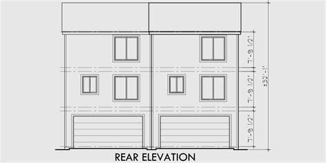 duplex plans narrow lots elevation house house plans duplex house plans small duplex house plans d 339