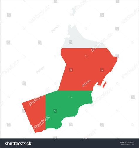 oman map vector high resolution oman map country flag stock vector