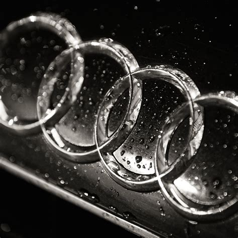 audi logo  black white hd wallpaper  ipad mini
