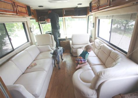 our 1st remodel class c motorhome rv remodel pottery the rv remodel begins nesting gypsy