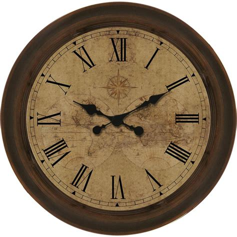 wall clocks shop allen roth analog round indoor wall clock at lowes com