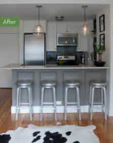 before and after a tiny kitchen gets a drastic makeover