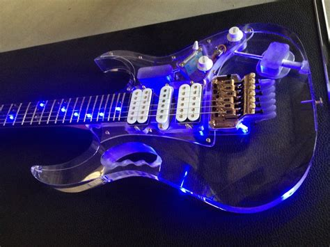 The Light Like A Guitar Only With Light by Top Quality Acrylic Electric Guitar Fingerboard