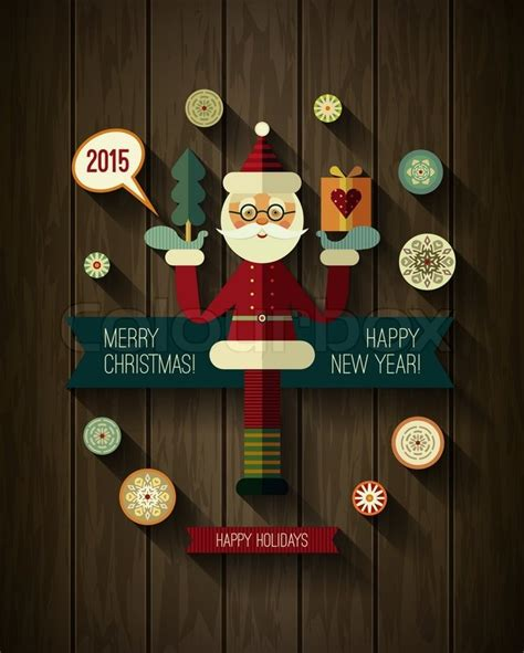 new year modern design flat design concepts for merry and happy new