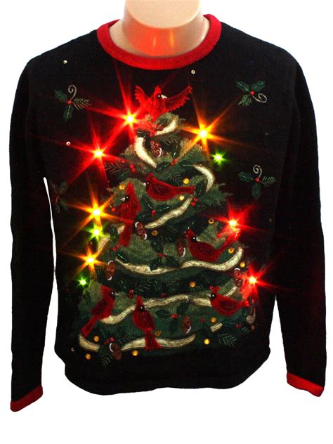 womens light up ugly christmas sweater heirloom