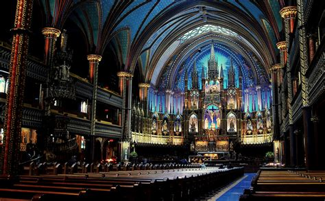 Notre Dame Cathedral Interior by Inside Notre Dame Cathedral In Montreal A From