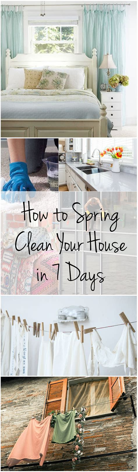 how to spring clean your house in a day how to quot spring clean quot your house in 7 days wrapped in rust