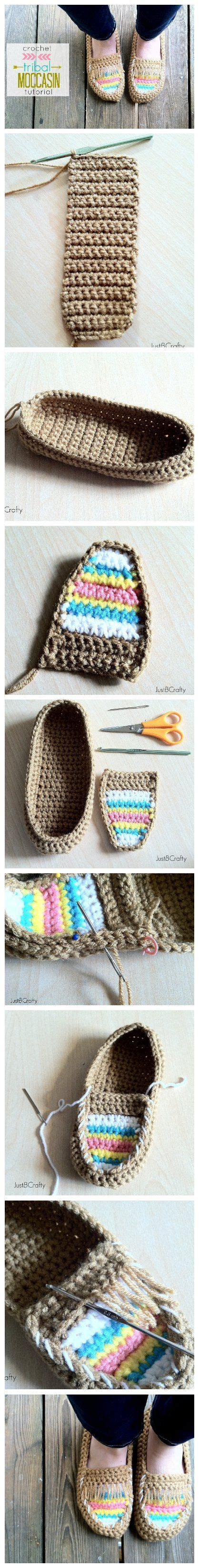 tribal pattern diy diy crochet tribal moccasin free pattern slippers