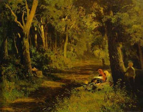 Lukisan Pemandangan Kung contoh lukisan hutan