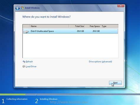 drive install installing windows 7 over pxe network boot server on rhel