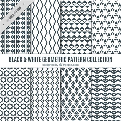 black and white geometric pattern vector free collection of black and white geometric patterns vector