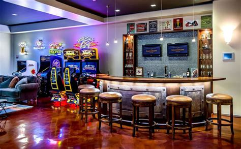 Bar Room At The Modern by Modern Basement Bar With Arcade Room