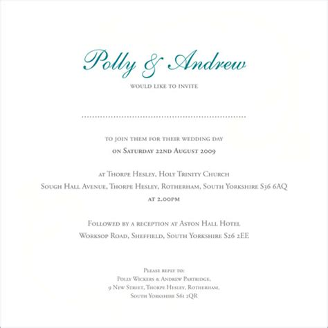 inside wording of wedding invitations the wedding stationery collection by pink polar