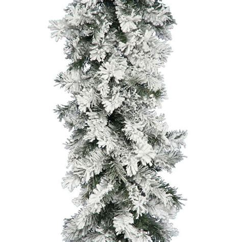 vickerman a806315 9 ft pvc christmas garland flocked
