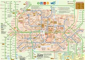 Munich Metro Map by Munich Subway Map Munich U Bahn Mapa Metro
