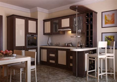 Dark Brown Cabinets Kitchen by Pictures Of Kitchens Modern Two Tone Kitchen Cabinets