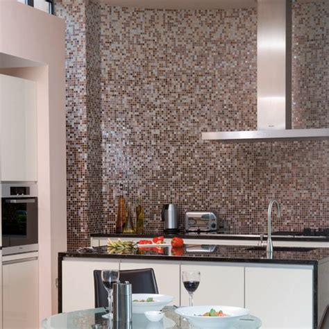 splashback ideas monochrome mosaic splashback black and white kitchens